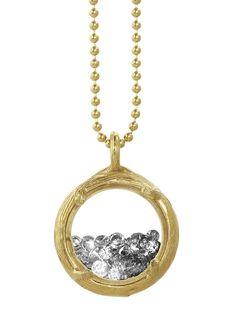 Gem shaker necklace