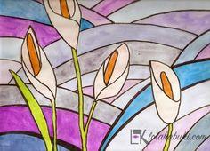 CALAS Lola Kabuki  #love #art #watercolor #paintings #illustration