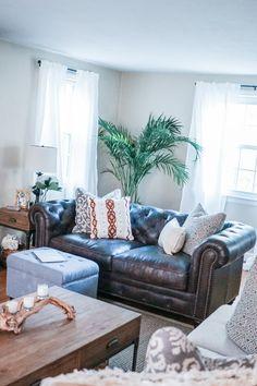 Living Room Mini Makeover - Oh So GlamOh So Glam
