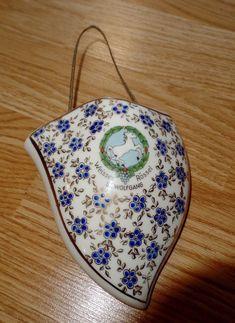 Vintage Porcelain Hanging Vase Weisses Rossel St. Wolfgang Made In Austria