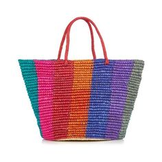 Sensi Studio Maxi woven tote ($97) ❤ liked on Polyvore featuring bags, handbags, tote bags, beach, multi, woven purses, straw tote, tote handbags, straw tote bags and beach tote
