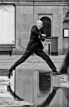 worldstreetphotography: shoot-the-street: Black and White Street . Com - on Facebook Jump… Manchester, England, United Kingdom, Europe, 2013 by shoot-the-street Photo of the week! by shoot-the-street World Street Photography