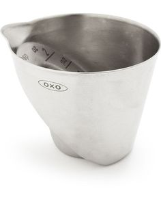 This mini angled measuring cup takes the guess work out of measuring liquids. Get it here: www.bhg.com/shop/oxo-oxo-mini-angled-measuring-cup-p50051e4482a75e55847bc14a.html
