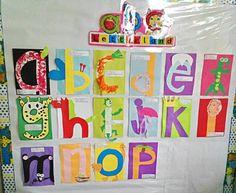 Our Letterland alphabet crafts corner!