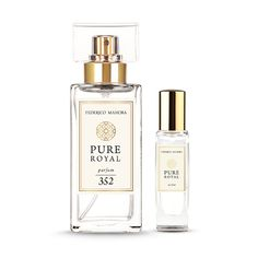 The Gift Set contains:  • Pure Royal Parfum FM 352 |15ml   • Pure Royal Parfum FM 352 |50ml   Type: velvety, thrilling Fragrance notes: Head: orange blossom Heart: jasmine Base: patchouli, honey  ___________  → Ingredients: Alcohol Denat., Fragrance/Parfum, Linalool, Benzyl Salicylate, Limonene, Hexyl Cinnamal, Butylphenyl Methylpropional, Geraniol, Citronellol, Coumarin, Benzyl Benzoate, Benzyl Alcohol, Farnesol, Eugenol, Citral; CI 15985