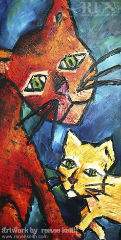 Cats ~ Artwork by Renee Keith