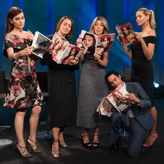 Our Project Runway judges are flipping through the pages of Marie Claire Magazine with Editor in Chief, Anne Fulenwider and actress Camilla Belle.