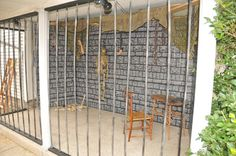 This person created a cage using their patio.  Halloween Forum