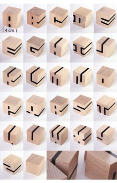 let kids make these block letters with wooden cubes and washitape