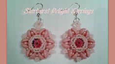 Video: Starburst Delight Earrings by HoneyBeads1 #Seed #Bead #Tutorials