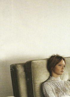 Sasha Pivovarova by Steven Meisel, Vogue Italia, march 2006- has faint look of the beautiful Kate Moss
