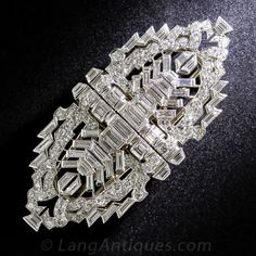 Art Deco Platinum and Diamond Clips and Brooch - 50-1-4644 - Lang Antiques
