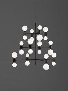 Parachilna Launches Lighting by Stephen Burks & Jaime Hayon - Design Milk Pendant Chandelier, Pendant Lighting, Black Chandelier, Contemporary Chandelier, Interior Lighting, Modern Lighting, Lighting Design, Ceiling Lamp, Product Design