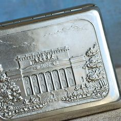 SALE... vintage metal cigarette case home decor by CoolVintage