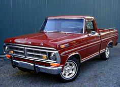 1971 Ford F100 Ranger XLT. Found this dealer image of an f100 for sale. I'd seen something when out, wheels on a newer f 150, and started wondering what those would look like on an older one. Then while looking for images to match up on the net, i started wondering what the magnum 500 wheels would look like. So, I did both. Also added the parking lights from a 71 mustang in the grill. Also tried to make the reflector on the hood look like it was lit up…