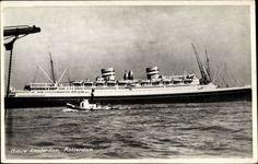Ak Dampfer SS Nieuw Amsterdam, Holland America Line, HAL, Rotterdam
