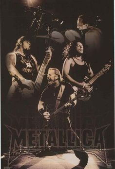 An awesome Metallica poster! James Hetfield, Lars Ulrich, Kirk Hammett, and Robert Trujillo by Anton Corbijn! Fully licensed - 2004. Ships fast. 22x34 inches. Give your walls a good thrashing with the