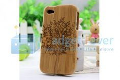 Apple iPhone 4 / 4S Wooden Protective Case (Style R)