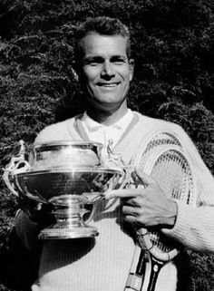 Neale Andrew Fraser (born 1933) is a former World No. 1 tennis player from Australia, born in Melbourne, Victoria. Fraser won the Wimbledon singles in 1960 & the US Championships singles in 1959 & 1960. Fraser failed to win the Australian Championships, finishing as runner-up on three occasions (1957, 1959 & 1960) & held a championship point in the 1960 final. Fraser is one of the twenty men to win all four majors in doubles & in 1984 he was elected into the International Tennis Hall of… Tennis Tournaments, Tennis Players, Us Championship, Lawn Tennis, Melbourne Victoria, Australian Open, Wimbledon, Hold On