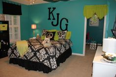 This is what I originally wanted my room to look like.. Instead, it's neon green....