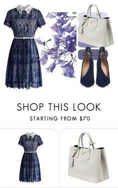 """""""Untitled #62"""" by jovana-p-com ❤ liked on Polyvore featuring Chicwish, Prada and Christian Louboutin"""