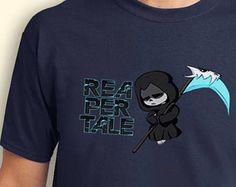Undertale Sans Cosplay arte Reapertale juego inspirado. Camiseta masculina y femenina