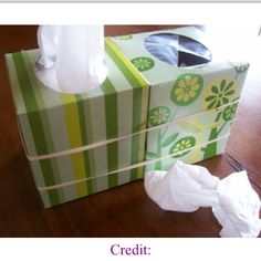 Easy and smart Kleenex tissue AND trash box ( great for in the car !)