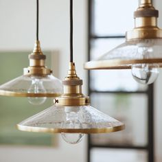 For the light-hearted industrialist. Our handcrafted Industrial Flare Pendants are the perfect mix of seeded glass and brass for a twist on modern design. Kitchen Pendant Lighting, Kitchen Pendants, Glass Pendant Light, Industrial Lighting, Interior Lighting, Home Lighting, Mini Pendant Lights, Countertop Makeover, Diy Countertops