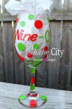 A personal favorite from my Etsy shop https://www.etsy.com/listing/112552843/personalized-wine-glass-20oz-girly