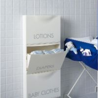 IKEA TRONES for nursery.think all those cloth diapers! Closet Storage, Diy Storage, Bathroom Storage, Trones Ikea Hack, Ikea Hacks, Cloth Diaper Storage, Cloth Diapers, How To Make A Diaper Baby, Daycare Storage