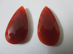 2pc 15x31mm Natural Red Chalcedony 25.20 cts Matching Pair