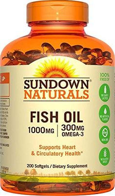 Sundown Naturals Fish Oil 1000 mg 200 Softgels   #HealthySupplements