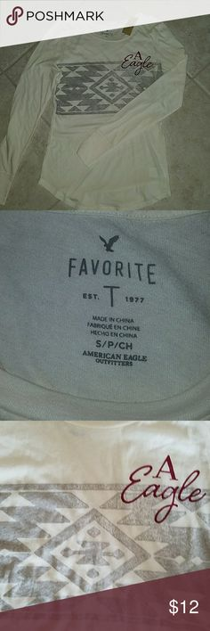 Ladies' American Eagle long sleeve top This long sleeve tee is new with tags. American Eagle Outfitters Tops Tees - Long Sleeve
