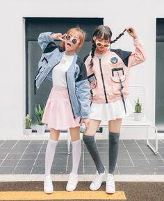 Patched Jacket | Pastel Jacket | Pink Jacket | Street Fashion | Korean Fashion | Kfashion
