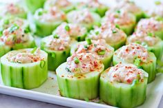 Tuna Salad in Cucumber Cups | 1mrecipes