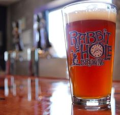 Pint Glass, Rabbit Hole Brewing, Justin, Texas