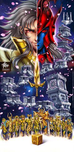 Gemini Saga Saint Seiya Fanart, enjoy guys - - Prints and more Availa. Sailor Moon, Super Anime, O Pokemon, Sasunaru, Manga Games, Anime Comics, Oeuvre D'art, Wolverine, Dragon Ball Z