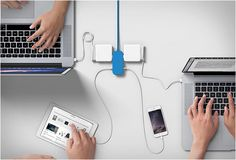 PORTIKO | BY BLUELOUNGE  a perfect power hub for places such as airport lounges, shared workspaces, living areas or hotel rooms...      Found on -http://wonderpiel.com/