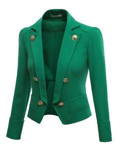 Doublju 3/4 Sleeve Short Crop Blazer Jacket KELLYGREEN (US-S) Doublju,http://www.amazon.com/dp/B009HMD4AK/ref=cm_sw_r_pi_dp_6GFhtb1ATR050M3Z