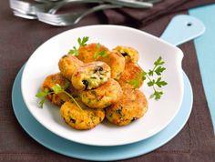 Polpette di merluzzo e patate con le olive