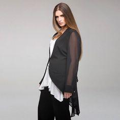 SEELENLOOK #NEWS   Cardigan von MAT Fashion Schwarz Gr. 38-42   Im Onlineshop ansehen:  https://seelenlook.de/damenmode-neuheiten   #Lagenlook #Plussize #Fashion #Mode #Style