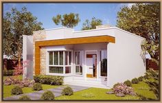 Modelos de fachadas de casas modernas de un piso