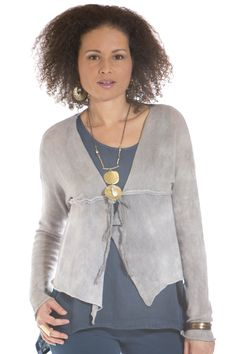 Organic Cotton Glimmer Sweater - Olivvi - Pewter, M