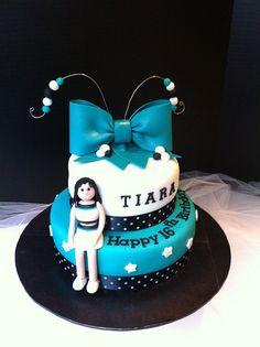Cheerleader Birthday Cake by cakebyira, via Flickr 9