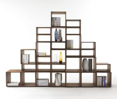 Freedom bookcase C. 2013 As its name suggests Freedom is a modular bookcase which can . Walnut Furniture, Modular Furniture, Plywood Furniture, Office Furniture, Furniture Decor, Furniture Design, Furniture Storage, Walnut Bookcase, Bookcase Shelves