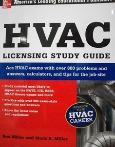 ace the major hvac licensing exams featuring more than 800 practice rh pinterest com HVAC Maintenance Car Air Conditioning System