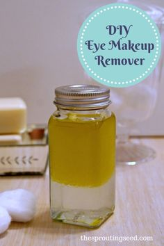 diy natural eye makeup remover--super easy and inexpensive--no more racoon eyes ever! thesproutingseed.com