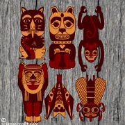 Tiger, Dog, Monkey, Chief, Bat, Fly