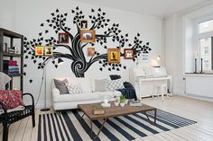 FREE SHIPPING - Wall decal - Family Tree Wall decal - Photo Frame Tree Wall Sticker