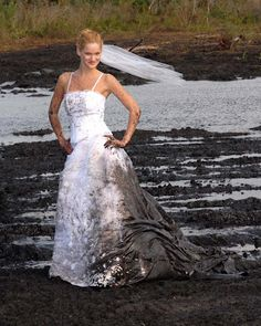 mud dress wedding